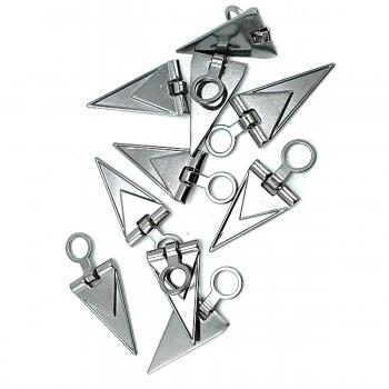 40 mm Triangle Design Zipper Puller E 1847