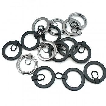 Zipper Handle - Zinc Alloy Metal - Ring Shape - 25 mm E 2022
