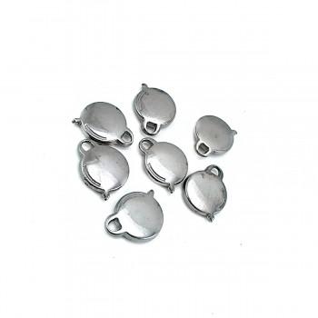 Zipper Pullers circle shape 22 mm x 16 mm E 298