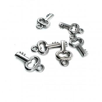 2 cm Key Shape Zipper Pullers E 459