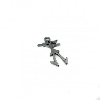 3,5 cm Person Shape Zipper Pullers E 600