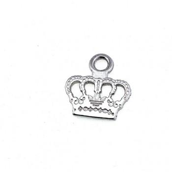18 mm x 17 mm King Crown Shaped Zipper Puller E 626