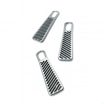 37 mm x 11 mm Combed Design Zipper Puller E 742