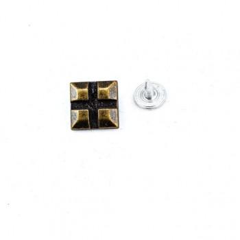 Rivet 3D Cube Pattern 13x13 mm E 1219