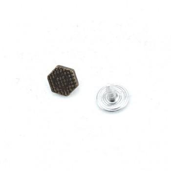 8x8 mm Hexagonal dot pattern rivet - rivet E 1269