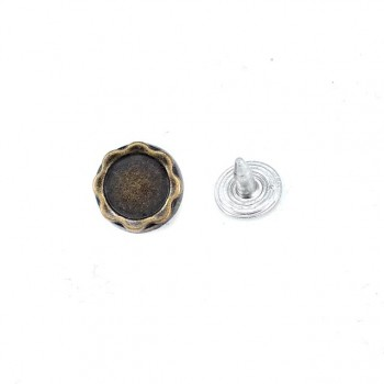 12 mm 19 ligne Metal rivet - rivet simple design E 611
