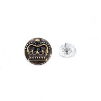 14 mm 22 lenght Textile rivet with crown - rivet E 630
