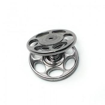 Double track round strut snap button 23 mm E 1182