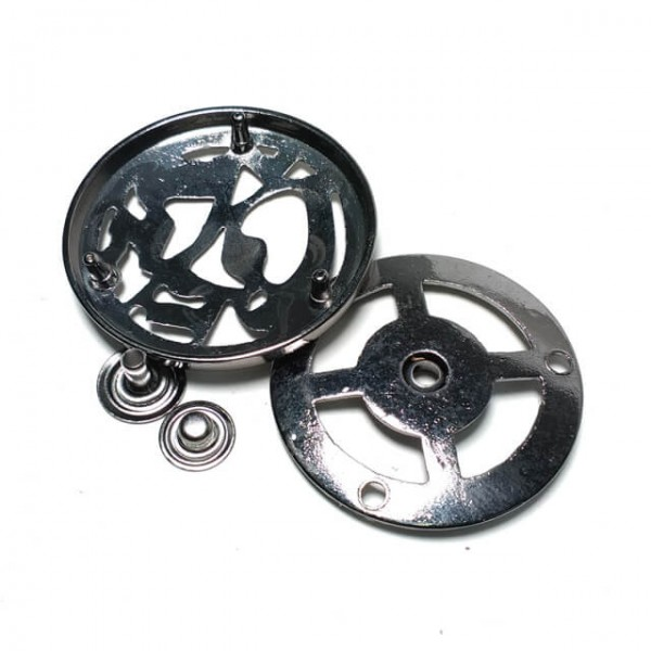 Round metal double track studs button diameter 44 mm metal E 1298