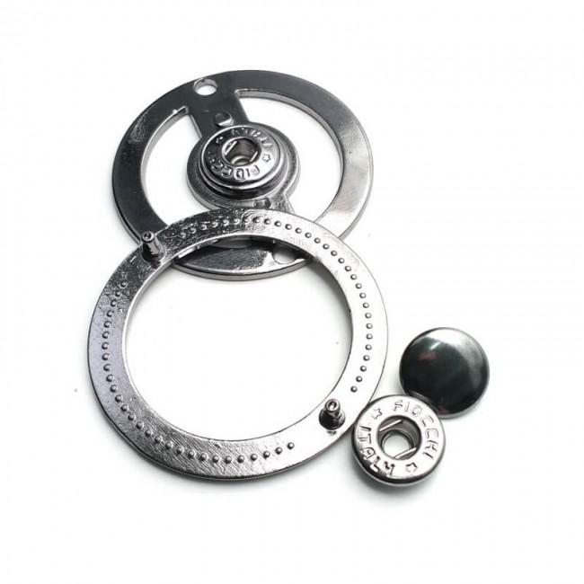 Yuvarlak 43 mm çift parça çıt çıt düğme Е 1311