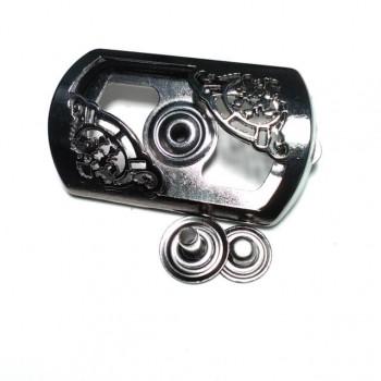 Metal Rectangular Frame Double Piece Snap Button Button 46 x 27 mm E 1495