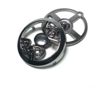 Round Metal Snap Button Button Diameter 37mm metal E 1543