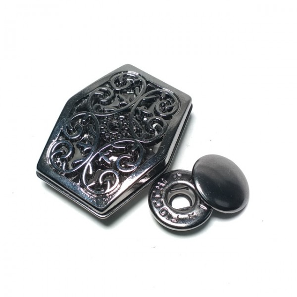 31 x 24 mm Snap-on metal snap button E 1692