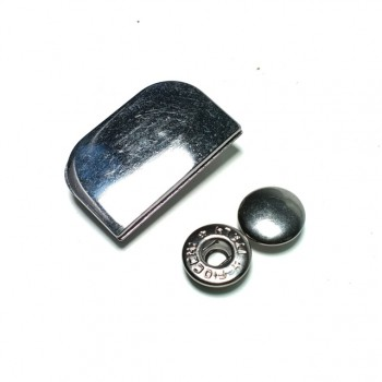 Half Square double piece snap button 31 x 20 mm Е 1747