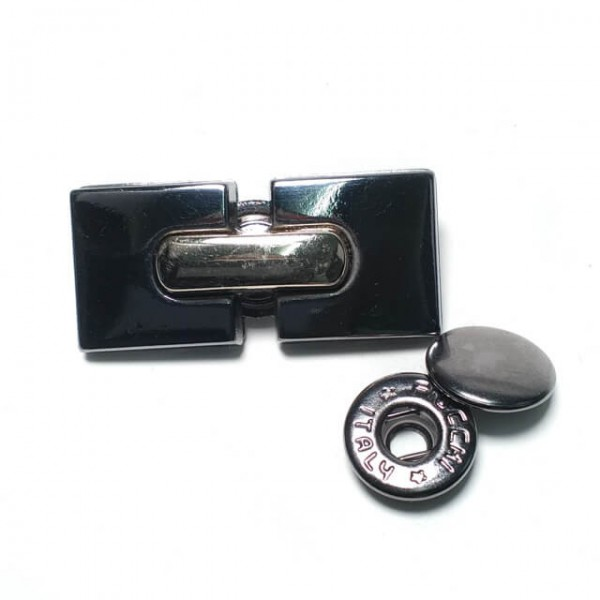 Metal Stylish Double Piece Snap Button Button 37 x 17 mm E 1860