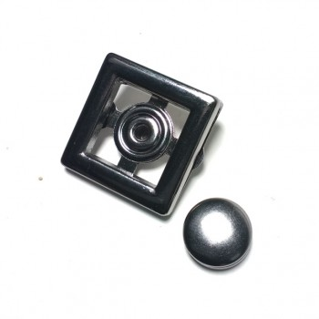 Eyelet Two-piece square snap button 24 x 24 mm E 1881