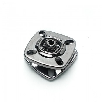 Sewing zinc alloy square studs button 17 mm kare 1919