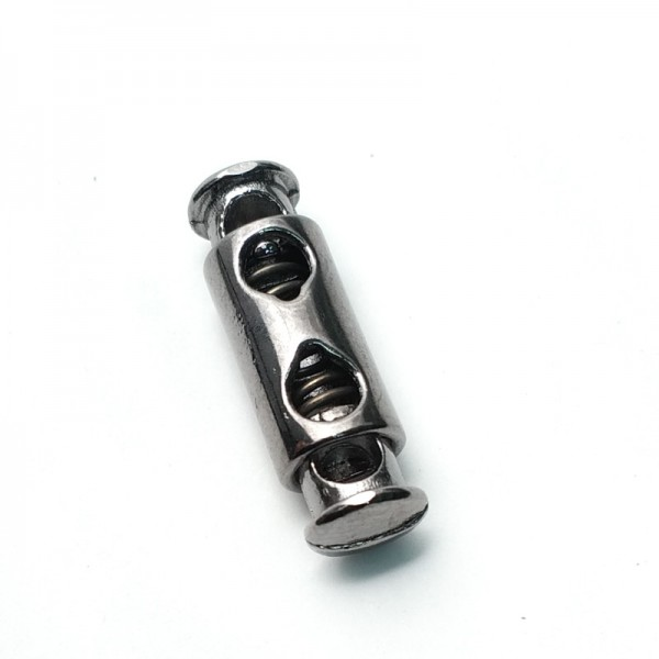Metal cord lock with double holes 24 mm E 1365