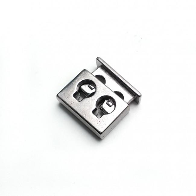Çift delikli kare şekil metal stoper 16 mm E 2035