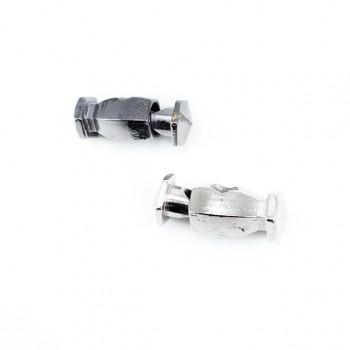 Metal cord lock single hole 24 mm E 649