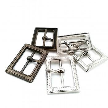 34 mm Clothing - Rectangular plain buckle zamak metal  E 1576