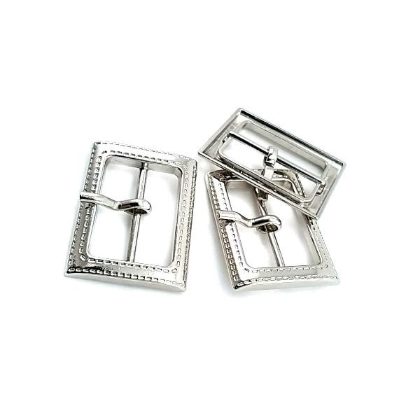 Clothing - Rectangular plain buckle zamak metal 26 mm E 1576