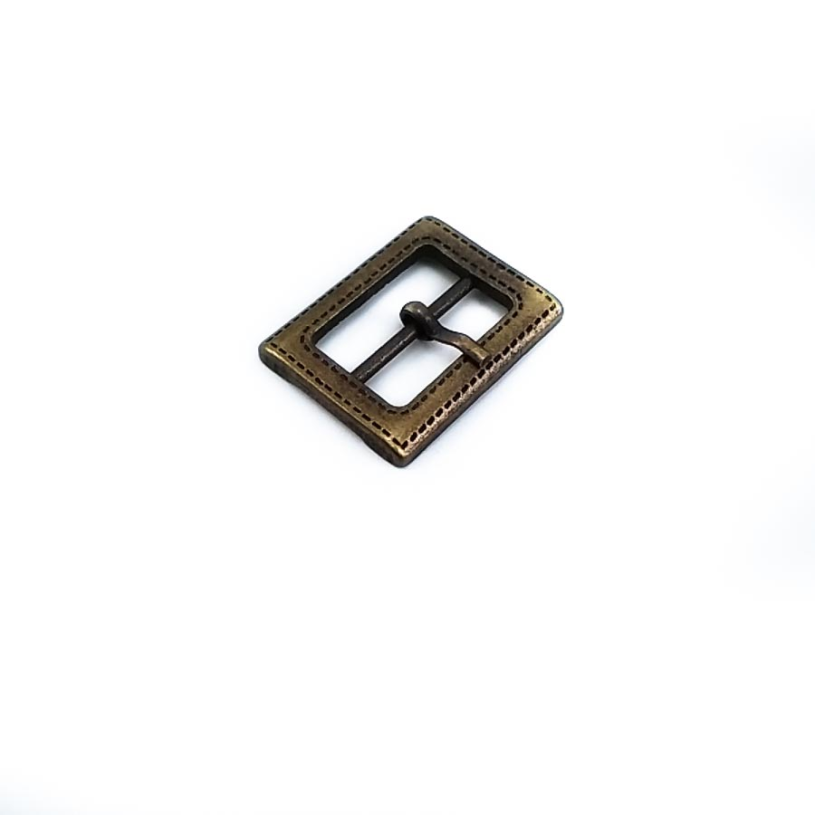 Patterned and studded metal buckle 20 mm E 484