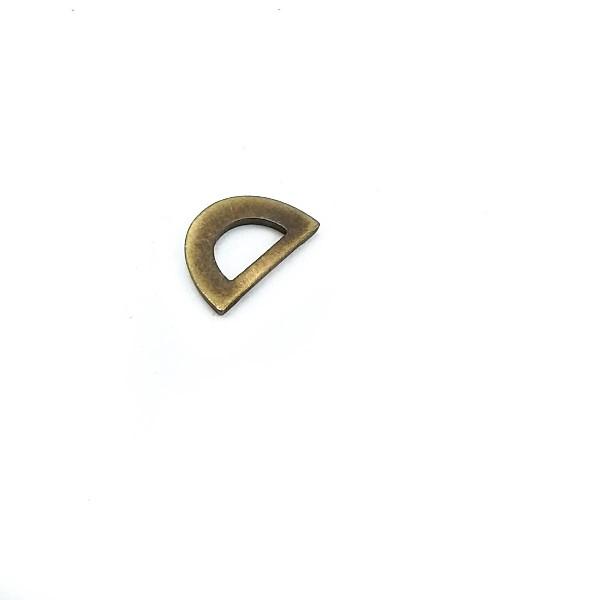 12 mm Metal D Buckle E 1166
