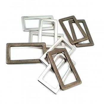 Rectangular frame buckle - metal frame buckle 30 mm E 1827
