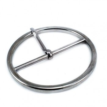 51 mm Metal buckle - center bar ring buckle E 2082