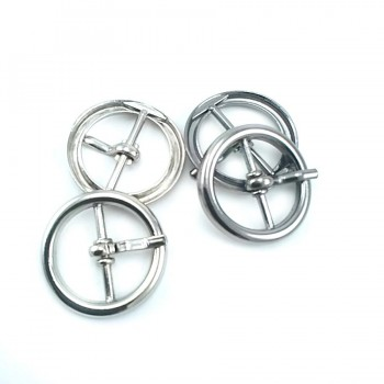Metal Round tongue ring buckle 20 mm E 2129