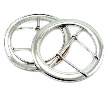 72 mm Metal, Double Tongue Ring Buckle E 480