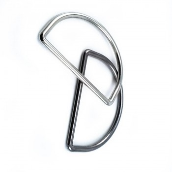 46 mm Metal D ring buckle E 880