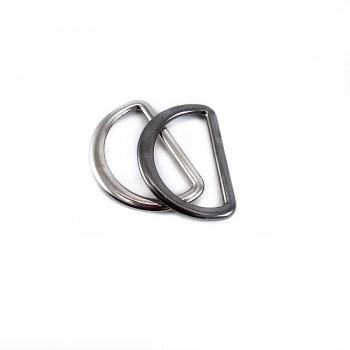 Metal D buckle 2.5 cm E 898