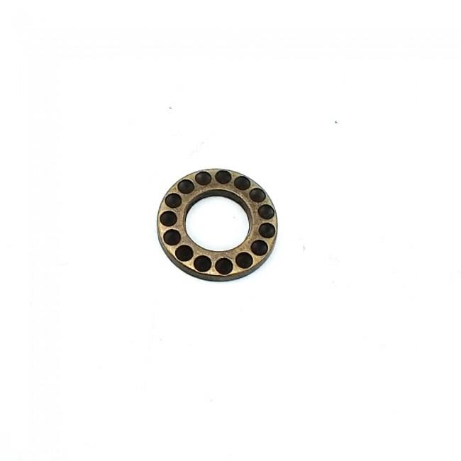 12 mm Halka Şekilli Taşlı & Mineli Metal Çerçeve Toka E 10
