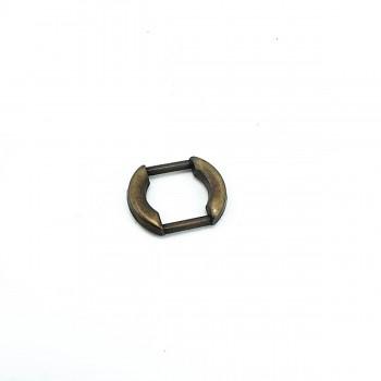13 mm Oval Edge Metal Frame Buckle E 1038