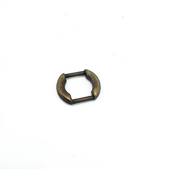 13 mm Oval Kenarlı Metal Çerçeve Toka E 1038