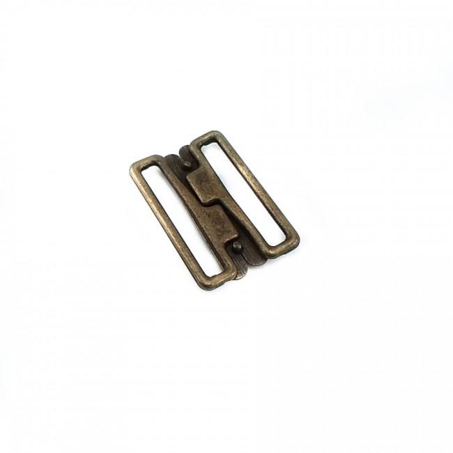 Dikdörtgen sürgülü metal toka  29 mm E 1281
