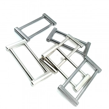 40 mm Thick edged metal frame buckle E 2140