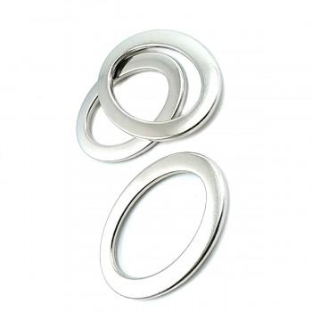 25 x 40 mm Oval Metal Buckle E 355