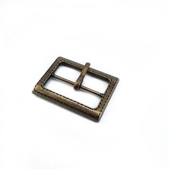 32 mm Rectangular metal plain buckle  E 483