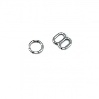 10 mm Bra Ring and Strap Adjustment Buckle E 981